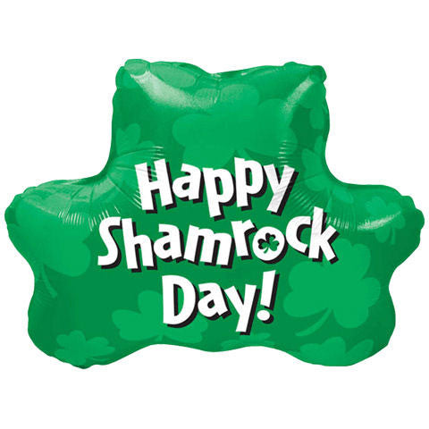 "22"" Happy Shamrock Day Shamrock Shape"