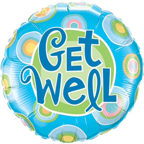 "18"" Get Well Blue Dots"