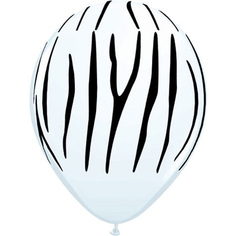"11"" Zebra Stripes Around Balloons (10 ct)"