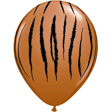 "11"" Jungle Tiger Stripes Balloons (10 ct)"