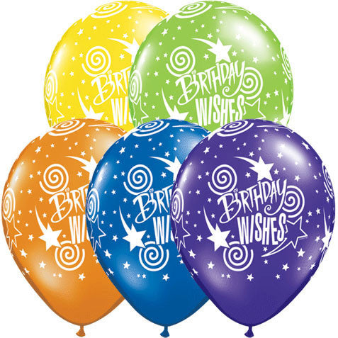 "11"" Birthday Wishes Around Balloons (10 ct)"