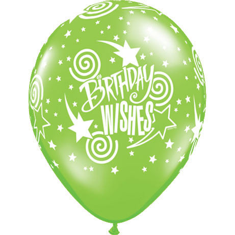 "16"" Birthday Wishes Around Balloons (50 ct)"
