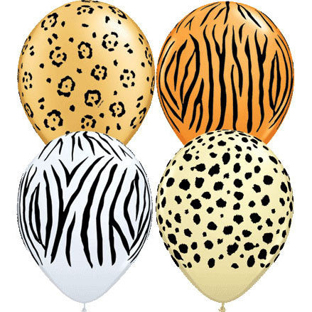 "11"" Safari Around Balloons (10 ct)"
