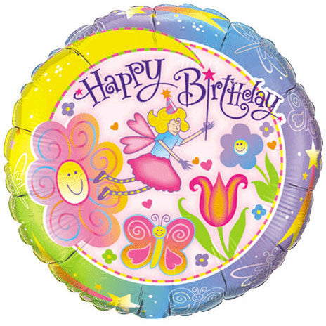 "18"" Birthday Fairyland Balloon (1 ct)"