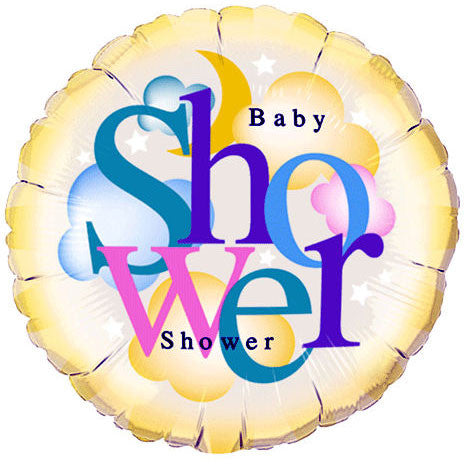 "18"" Heavenly Baby Shower Qualatex"