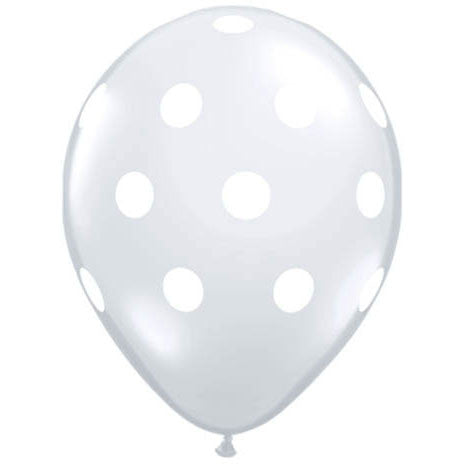 "11"" Big Polka Dots Diamond Clear"