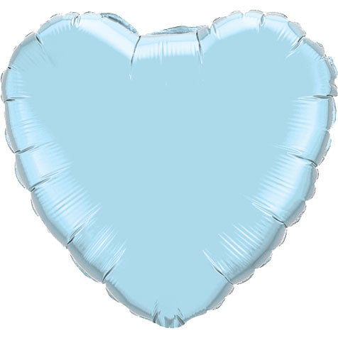 "18"" Pearl Light Blue Heart Foil Balloon"
