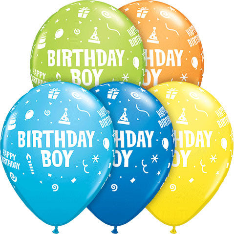 "11"" Birthday Boy Party Pack (5ct)"