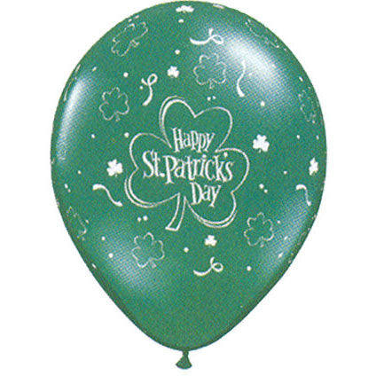 "11"" St. Patrick's Shamrock Around Balloons (25 ct)"