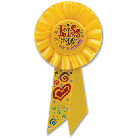 Kiss Me, It's My Birthday Rosette