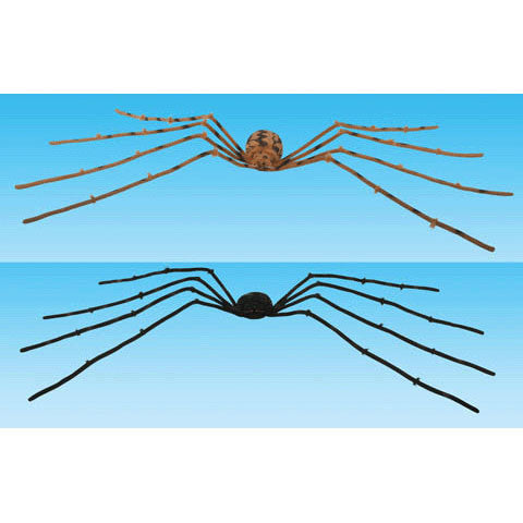 "30"" Black and Brown Posable Spider"