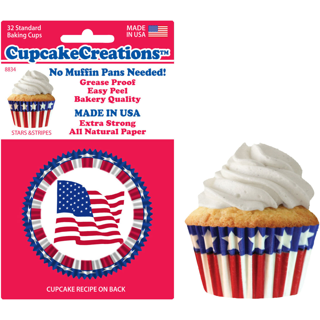 Standard Stars & Stripes Baking Cups (32ct)