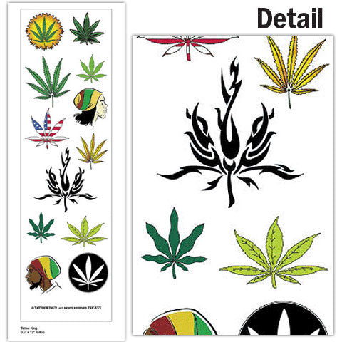 Pot Leaf Tattoos