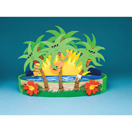 "Table Deco - Cool Palms, 18""x12"