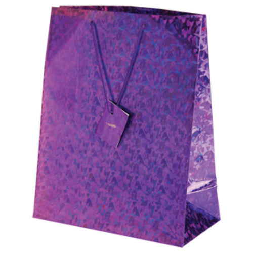 Purple Metallic Large Gift Bags