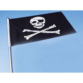 "Cloth Pirate Flag -12"" (1 ct)"