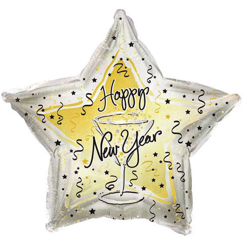 "18"" New Year's Toast Foil Balloon"