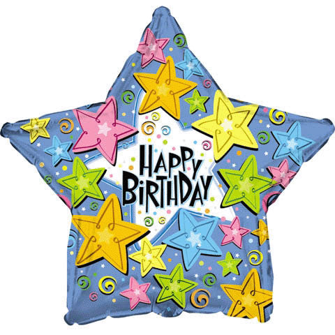 "18"" Happy Birthday Happy Stars"