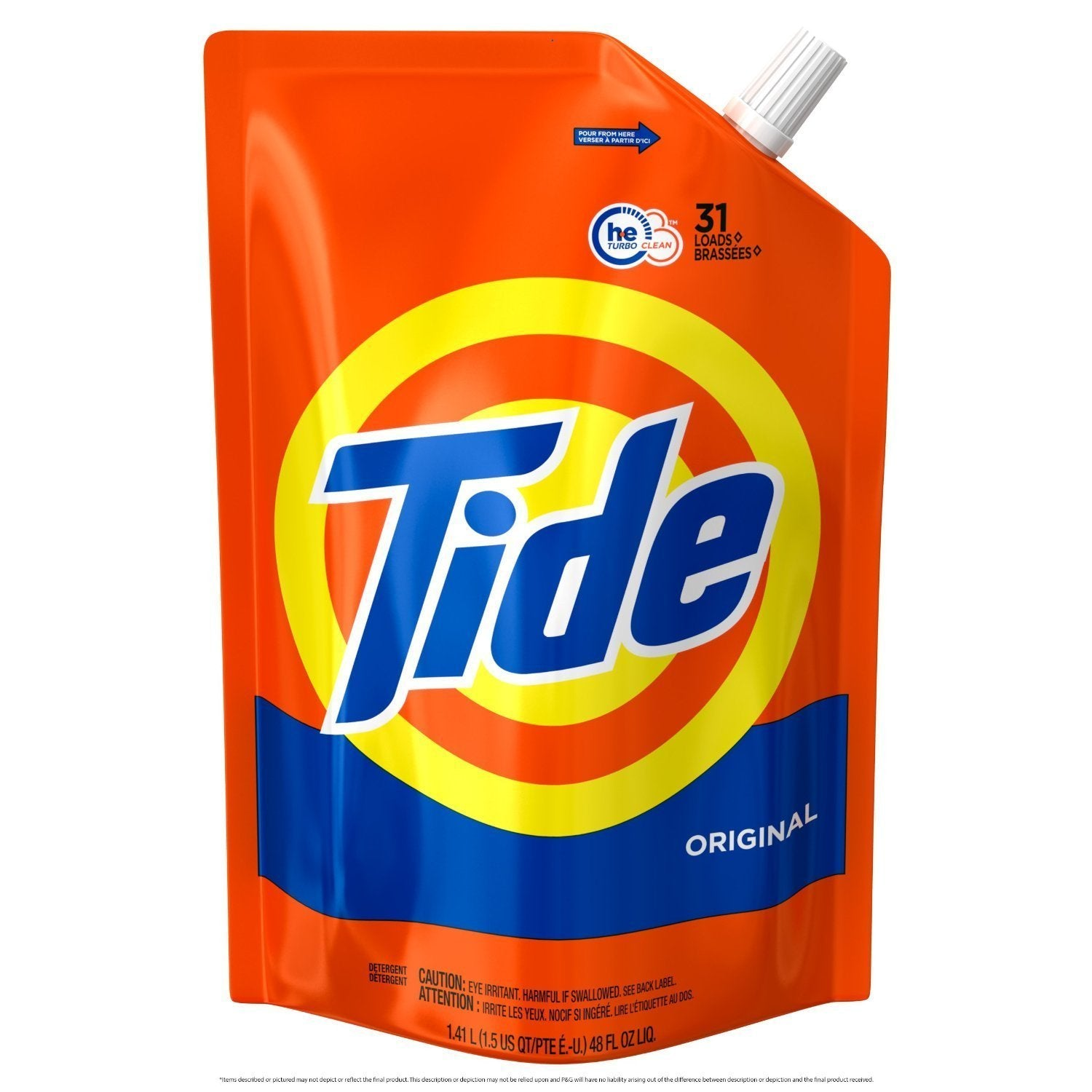 6 Pac Tide 50 oz Original Scent Liquid Laundry Detergent Remove Tough Stains