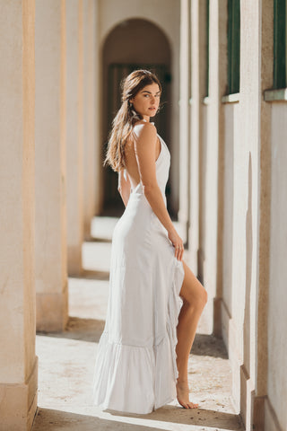 Mazatlan Slit Midi Dress