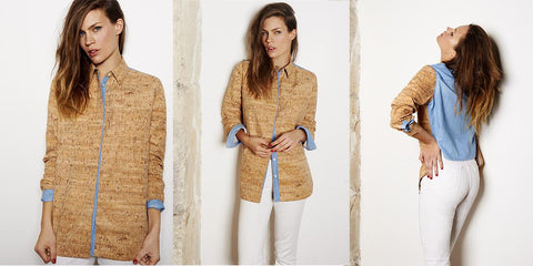 Female shirt made from cork