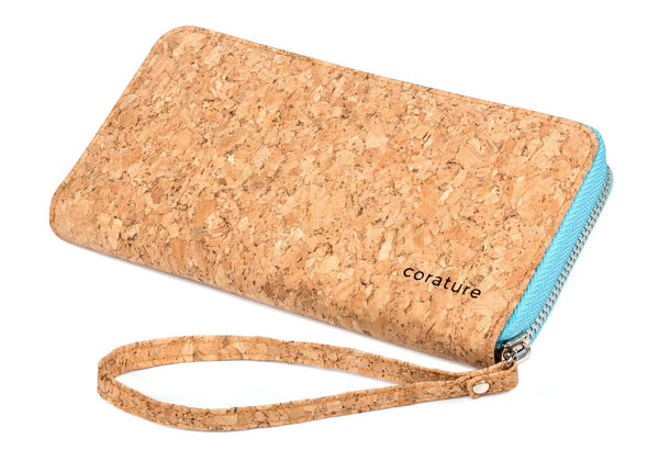 Cork Clutch Wallet | Wristlet (Orange, Black, Purple, and Baby Blue)