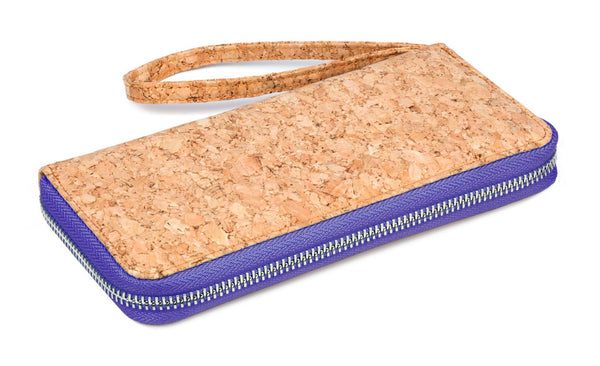 corature cork clutch purse purple