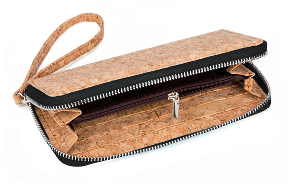 corature cork clutch purse black