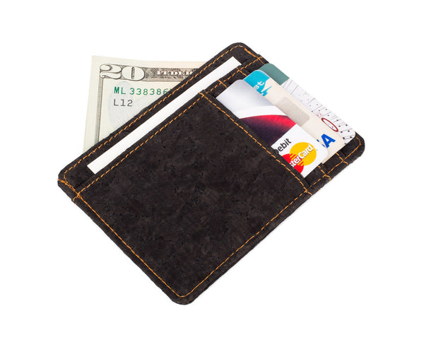 Cork Minimalist Wallet | Black
