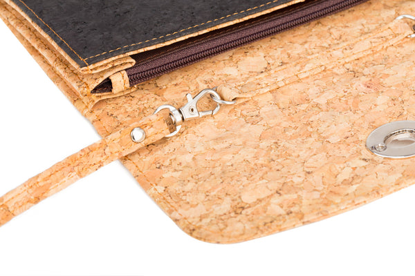 cork handbag inside