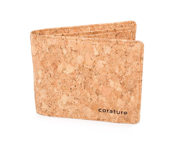 Cork BIfold wallet partial open