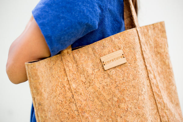 corature cork tote shoulder bag