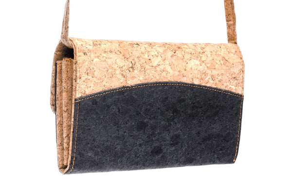 Cork Crossbody Bag with Detachable Shoulder Strap.