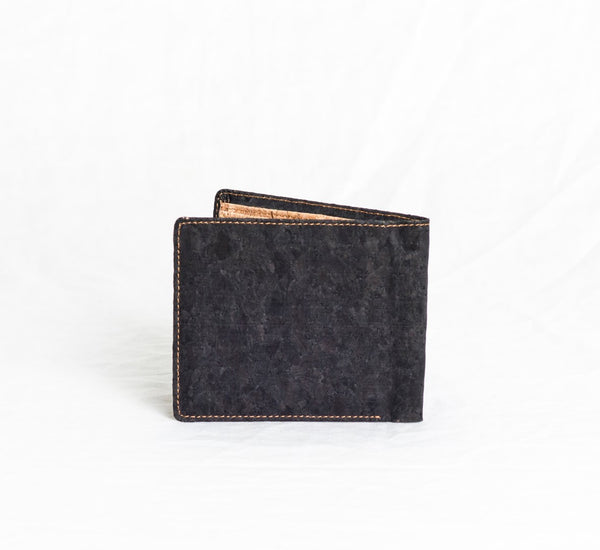 corature black cork bifold back