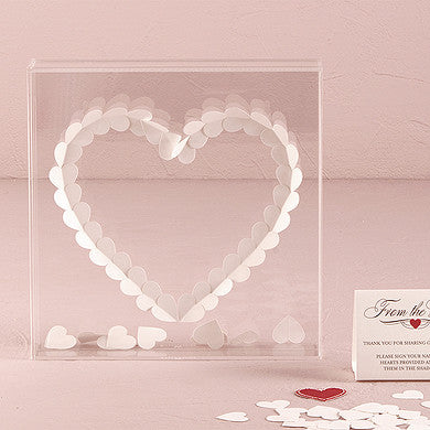 """From The Heart"" Transparent Acrylic Shadow Box - LoveStruck Weddings"
