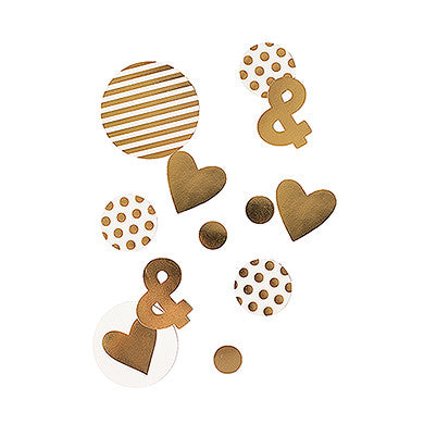 Gold Foil Jumbo Party Confetti - set of 100