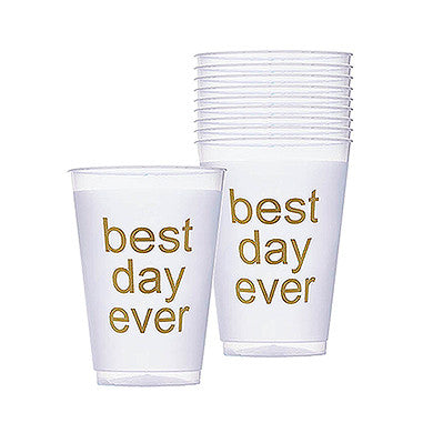 Best Day Ever Frosted Plastic Tumblers - set of 10
