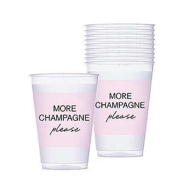 More Champagne Pink Frosted Plastic Tumblers - set of 10
