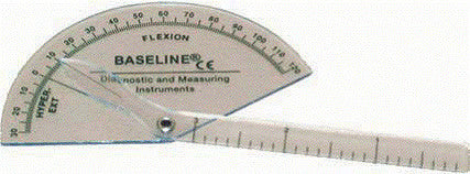 Baseline Plastic Finger Goniometer - Flexion to Hyper-Extension - Budget Medical Supplies