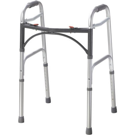 Adult Easy-Release 2 Button Folding Walker - Budget Medical Supplies