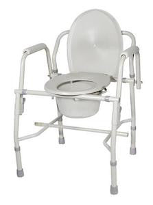 Deluxe Steel Drop-Arm Commode - Budget Medical Supplies
