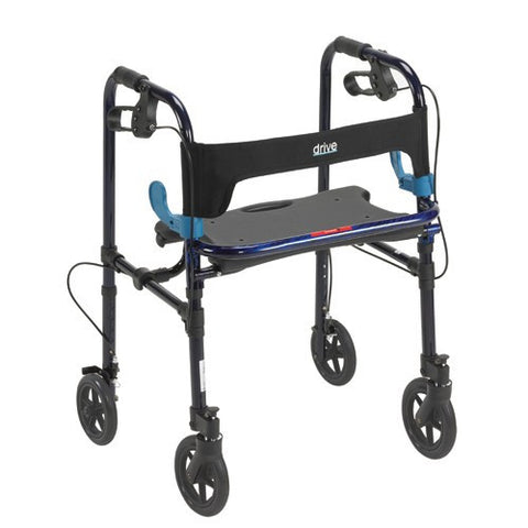 "Clever Lite Folding Rollator with 8"" Casters - Budget Medical Supplies"