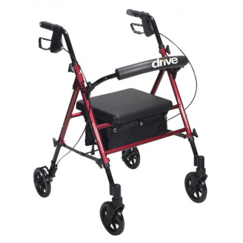 Aluminum Rollator with Adjustable Seat Height - Budget Medical Supplies