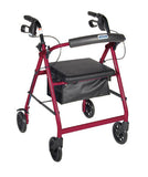 4 Wheel Rollator with Pouch & Padded Seat - Budget Medical Supplies
