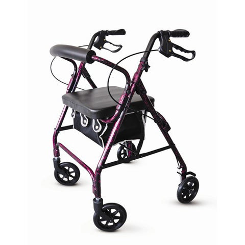 Aluminum Rollator with Loop Brakes - Budget Medical Supplies