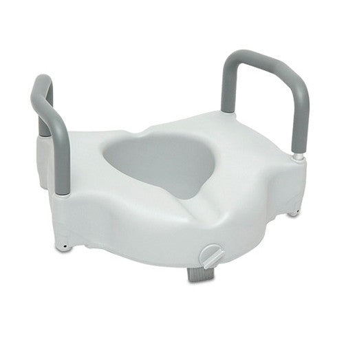 "6"" Raised Toilet Seat with Locking Arms - Budget Medical Supplies"