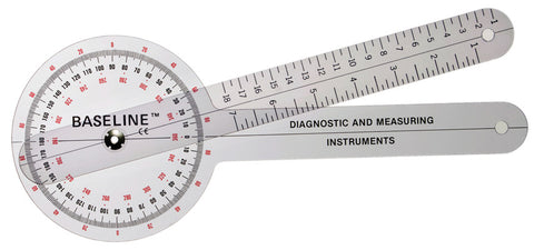 Baseline Plastic Goniometer - 360 Degree Head - Budget Medical Supplies