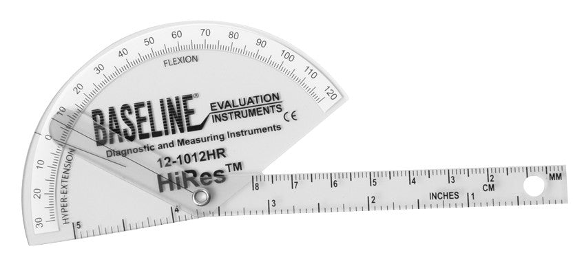 Baseline Plastic Finger Goniometer - HiRes Flexion to Hyper-Extension - Budget Medical Supplies