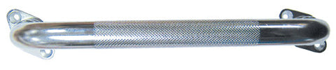 Chrome Knurled Grab Bar with Rotating Flanges - Budget Medical Supplies