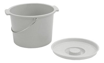 Commode Bucket with Handle & Cover - Budget Medical Supplies